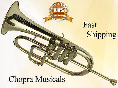 FLUGEL HORN 3 V Bb WITH BAG MOUTH PIECE FREE n FAST FREE SHIP