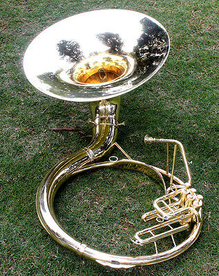 "Sousaphone PRO Shinning Brass 22"" Bb ""Chopra"" 3 Valves with Bag M/ P"