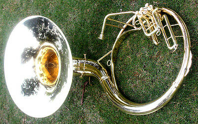 "SOUSAPHONE Shinning Brass 20"" Bb 3 VALVE WITH BAG MOUTH PIECE SHIP FAST"