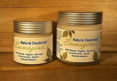 Emmagine Deodorant Natural Organic Aluminium Free 60g REFILL ONLY - Free Postage