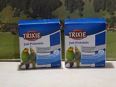 Trixie 5105  2 Packungen Jod-Pickstein       73/9