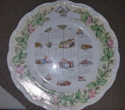 "Royal Doulton Brambley Hedge ""2002 Calendar"" Plate"