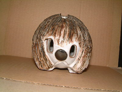 Delightful Little Briglin Studio Pottery Dog Money Box