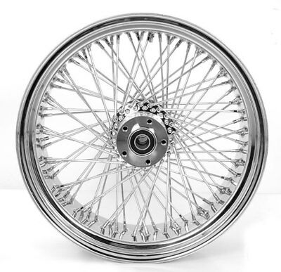 CHROME BILLET HUB 250mm WIDE 80 SPOKES WHEEL 80 SPOKES FITS CUSTOM HARLEY MOTORC