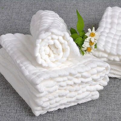 Cotton Baby Infant Washcloth Bath Towel Newborn Bathing Feeding Wipe Cloth New.