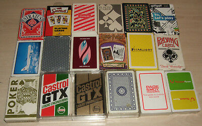 Job Lot of 18 Different Packs of Vintage and Modern Playing Cards