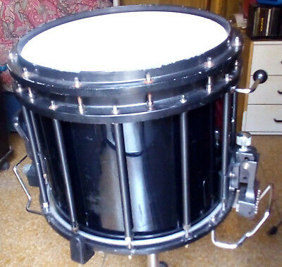 """Marching Snare Drum 14""""x12 Black Sound Percussion Labs High-Tension / USED"""