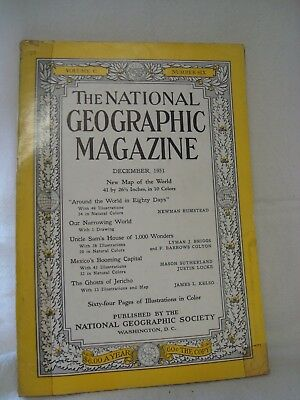National Geographic Magazine December 1951 Father Christmas Coca-Cola Ad