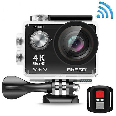 AKASO EK7000 4K Action Camera WIFI Ultra HD Waterproof Sports DV Camcorder 12MP,