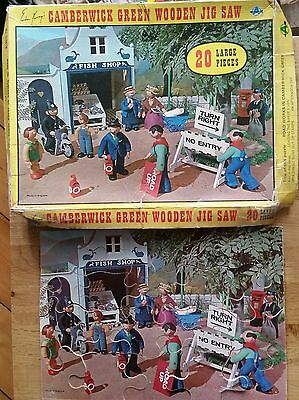Vintage Gordon Murray Camberwick Green Wooden Road Works Jigsaw 20 Pieces