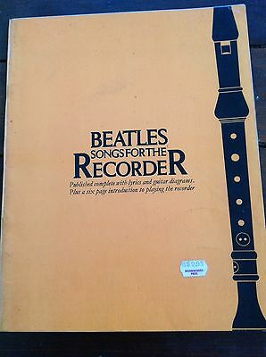 Beatles Songs For The Recorder With Lyrics & Guitar Diagrams