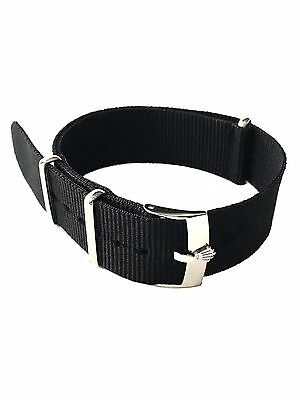 20mm Black Rolex NATO ® Strap Band