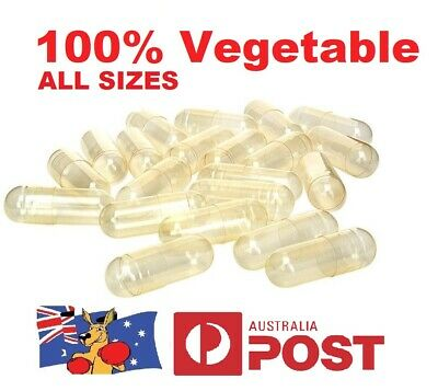 Size 1 2 3 4 0 00 000  Empty Vegetable Capsules Medicine Pill Vitamins Med Drug