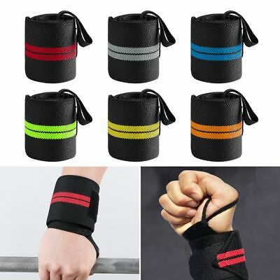 Sport Gym Wrist Brace Support Weight Lifting Strap Protector Various Color