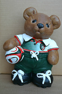 Leicester Tigers Rugby Union Bear Firgure Premiership Birthday Christmas Gift