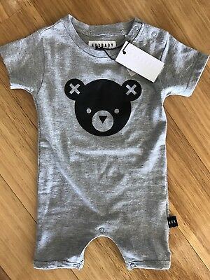 HUXBABY BEAR ROMPER, NWT! RRP $49.95 Size 6/12 Months Size 0