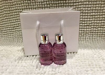 Molton Brown Blossoming Honeysuckle & White Tea Body Wash 2 x 50ml Gift Set *New