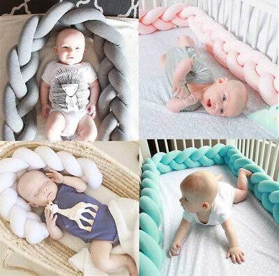 Baby Soft Bed Rail Crib Collision Creep Bumpers Safety Rail Protector Guard