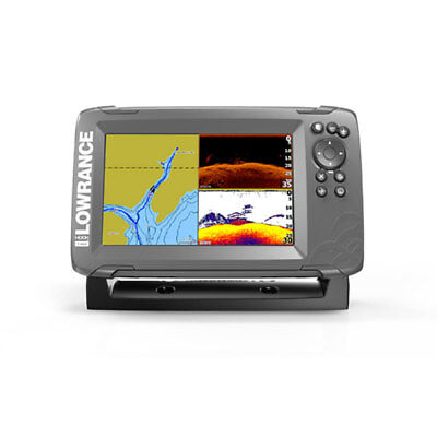 LOWRANCE HOOK 7 ECO+ GPS  CON TRASD. DOWNSCAN 83/200 455/800 kHz CHIRP