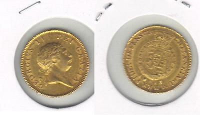 Great Britain Gold 1/2 Guinea 1813 George Iii Nice Condition Free Delivery