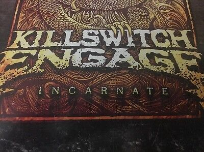 """KILLSWITCH ENGAGE ~ Original 11x17 """"Incarnate"""" Double Sided Album Support Poster"""