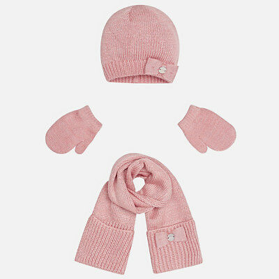 New Mayoral Baby Girls, scarf, mittens and beanie set, age 6 months
