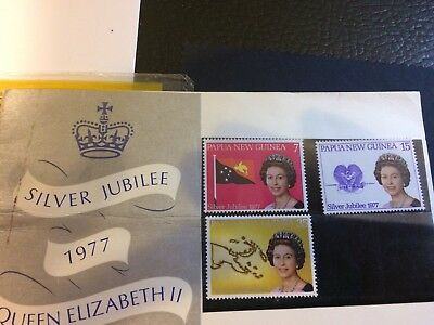 Papua New Guinea 1977 Silver Jubilee Stamps MNH