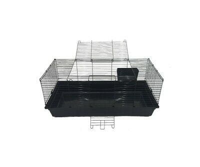 Large rabbit guinea pig plastic based cage with wire and wheels