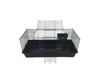 Large rabbit guinea pig plastic based cage with wire top