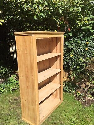 Antique Kitchen Utility Cupboard Pine Bookcase Reclaimed