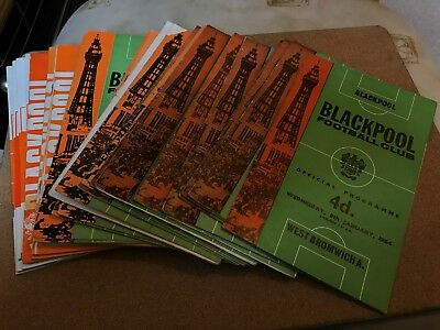 27 Assorted Blackpool Home Programmes From 1960's