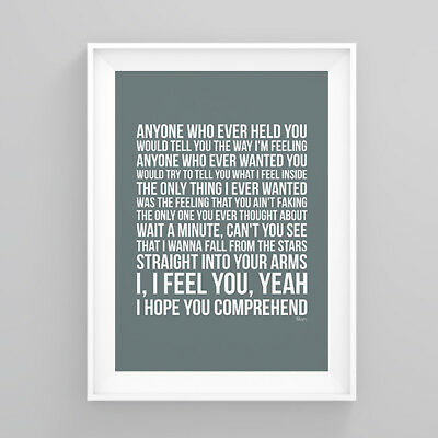Simply Red Stars Lyrics Poster Print Wall Song Artwork