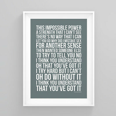 Simply Red You've Got It Lyrics Poster Print Wall Song Artwork