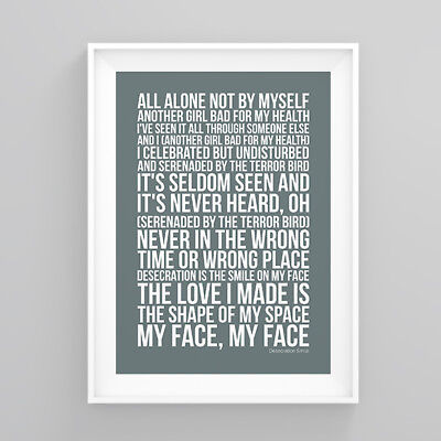 Red Hot Chili Peppers Desecration Smile Lyrics Poster Print Wall Song Artwork