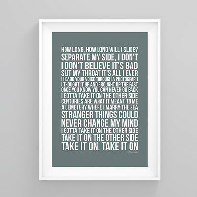 Red Hot Chili Peppers Otherside Lyrics Poster Print Wall Song Artwork