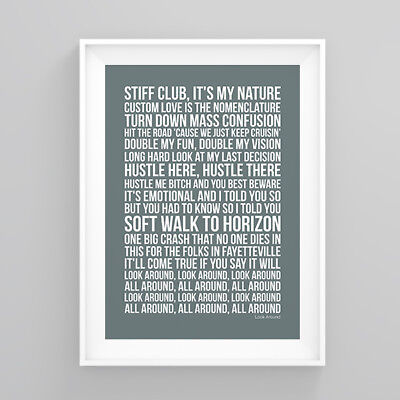 Red Hot Chili Peppers Look Around Lyrics Poster Print Wall Song Artwork
