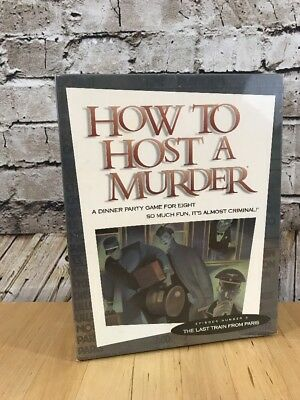 How To Host A Murder #3 The Last Train From Paris Game New Sealed Halloween