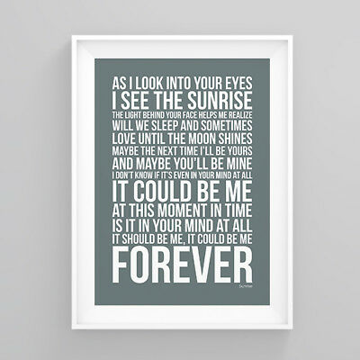 Simply Red Sunrise Lyrics Poster Print Wall Song Artwork