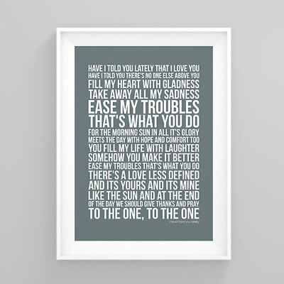 Rod Stewart have i told you lately Lyrics Poster Print Wall Song Artwork