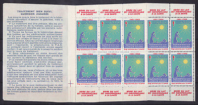 FRANCE Mint NH TBC Complete Booklet with 10 Stamps Cinderellas III
