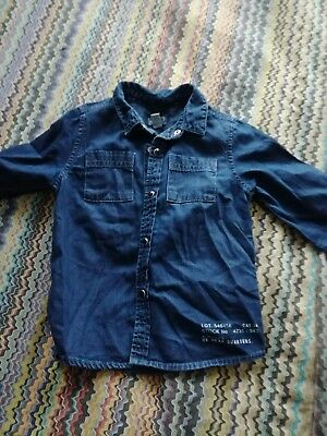 Boys River Island 18-24 months denim shirt - VGC worn once