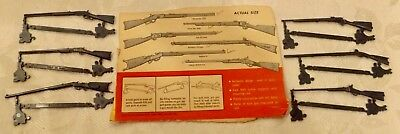 1950's Cereal Premium full set of  Famous American Rifles Models/ still on trees