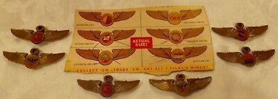 1950's Cereal Premium Pilots wings w/original Box cut-out National Airlines ...