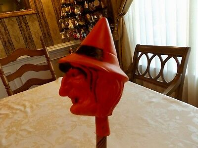 Nice Halloween Blow Mold Witch Parade Baton / Staff Awesome Rare Version !!!!