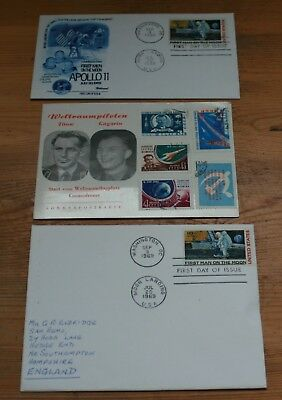 Space Stamps On Fdc's