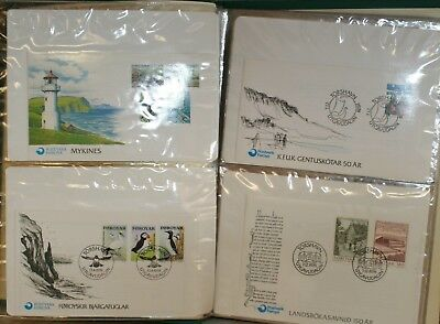 Collection Of Fdc's From Iceland