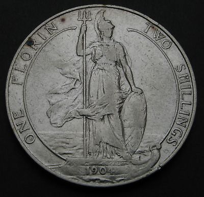 GREAT BRITAIN 1 Florin (Two Shillings) 1904 - Silver - Edward VII. - 201