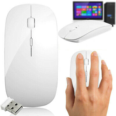 Souris Mouse Sans fil optique USB Mini Ultra Fine - Blanc