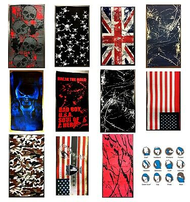 Bandana Multifunction Face Warmer Mask Neck Tube Scarf Biker Ski Snood Balaclava