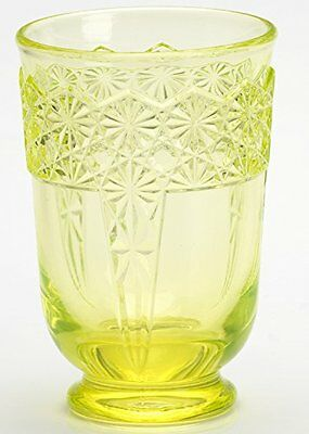 Tumber - Queen Pattern - Vaseline Glass - Mosser USA